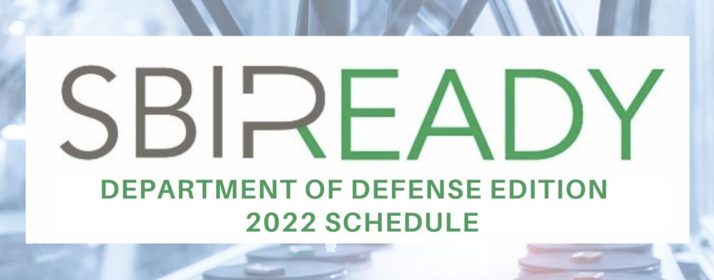 SBIR Ready 2022 Schedule placeholder